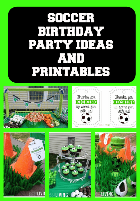 Soccer Party Ideas {Food, Favors & FREE Printables}