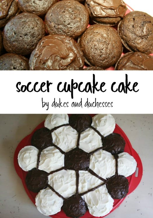 How to Make a Soccer Ball Themed Cake from Cupcakes | Tutorial