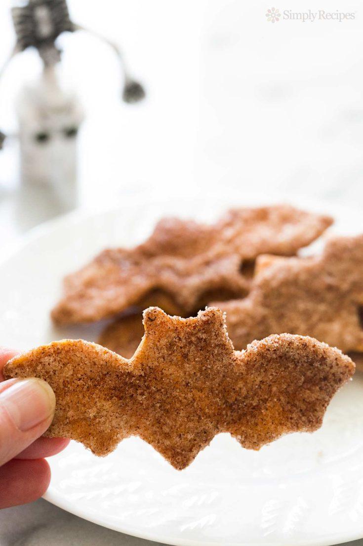 """Spooky"" Cinnamon Sugar Flour Tortilla Crisps Recipe"