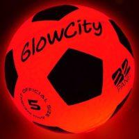 GlowCity Light Up LED Soccer Ball Blazing Red Edition