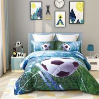 3D Soccer Comforter Set Twin Soccer Bedding