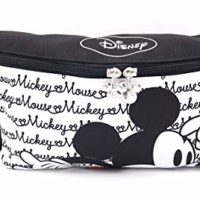 Disney Mickey Minnie Mouse Zippered Fanny Pack for Travel