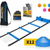 Bltzpro Agility Ladder with Soccer Cones- A Speed Training Equipment