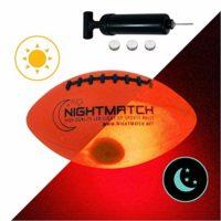 NIGHTMATCH Light Up Football Kids Edition INCL Ball Pump