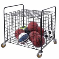 Metal Rolling Sports Ball Storage Hopper and Equipment Cart