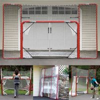 EZGoal Hockey Folding Pro Goal with Backstop and Targets