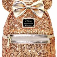 Yellow Gold Sequin Minnie Mini Backpack