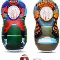 Inflatable Two Sided Football and Baseball Target Set