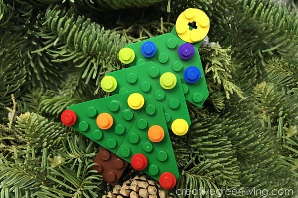 How to Make a Lego Christmas Tree Ornament