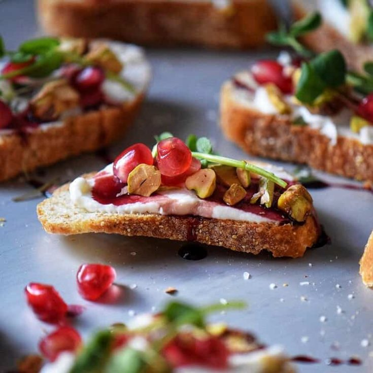 Whipped Ricotta Crostini
