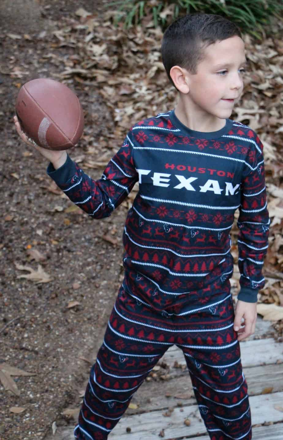 family football pajamas houston texans