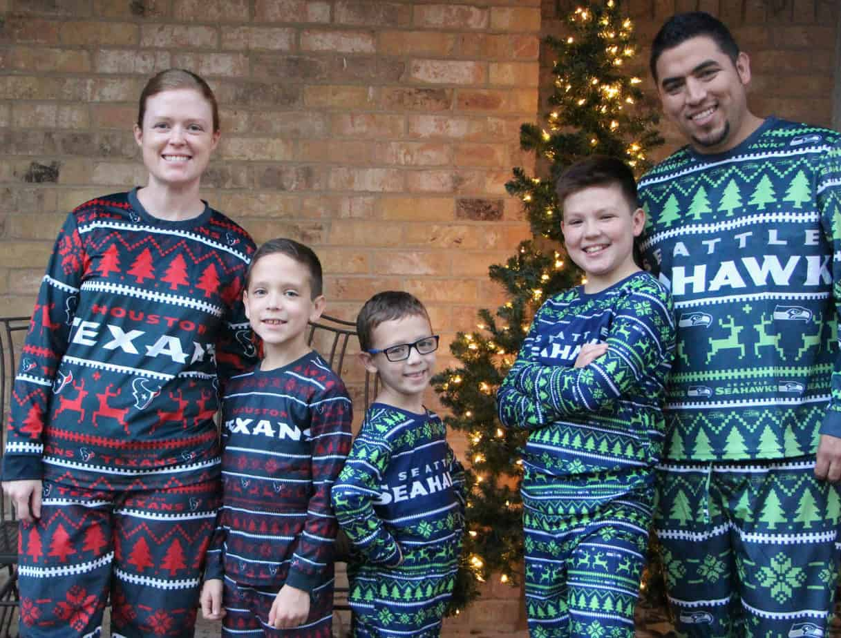 family football pajamas for christmas ugly pajamas