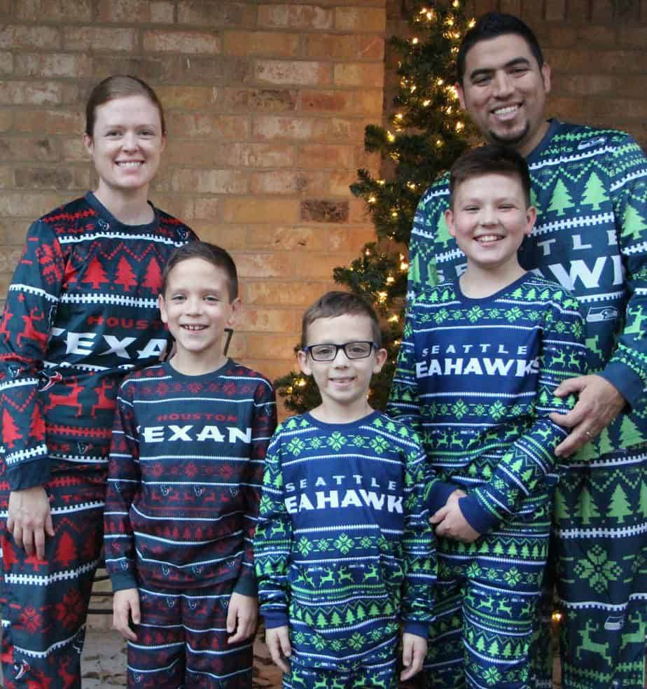 family football pajamas family nfl pajamas