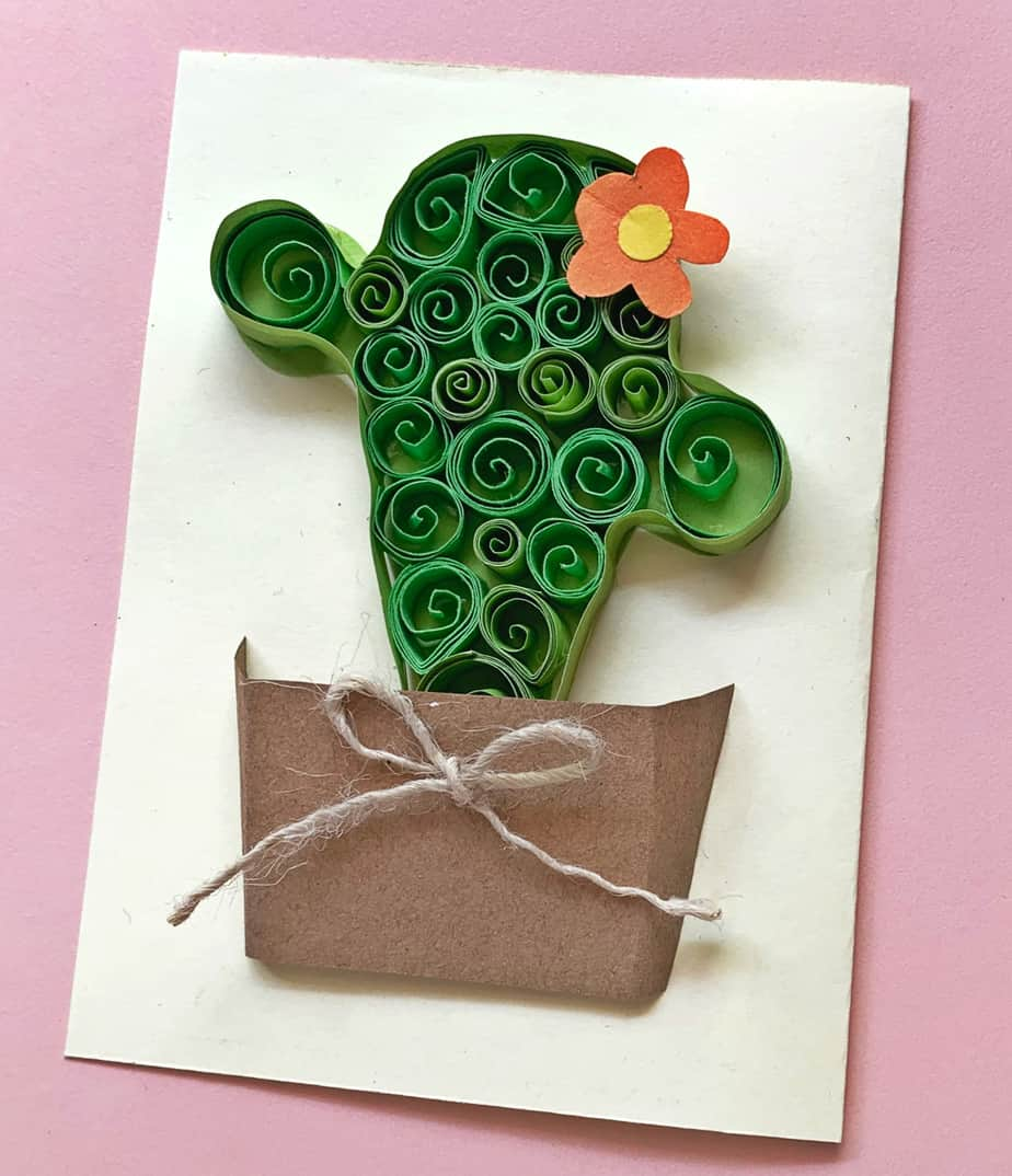 quilled cactus craft