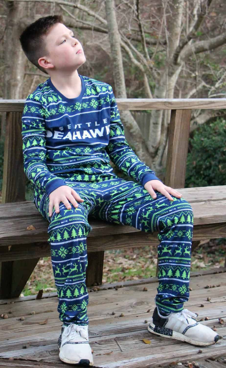 seattle seahawks ugly pajamas for kids