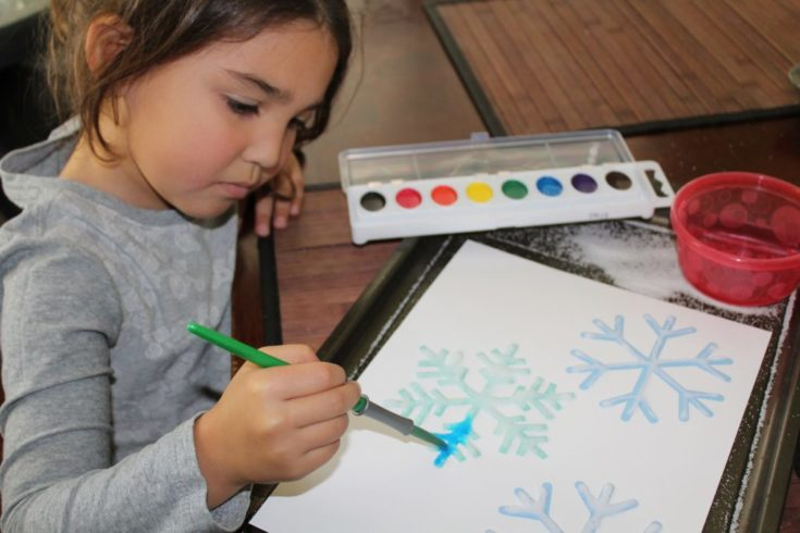 Snowflake Salt Painting- A Winter Themed Project You'll LOVE – The Salty Mamas
