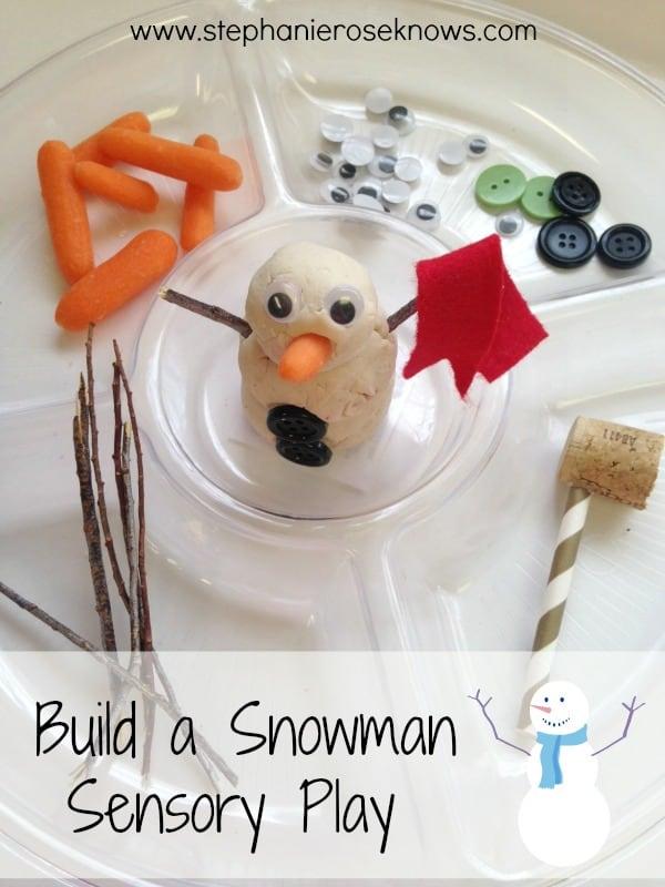 Build a Snowman Playdough