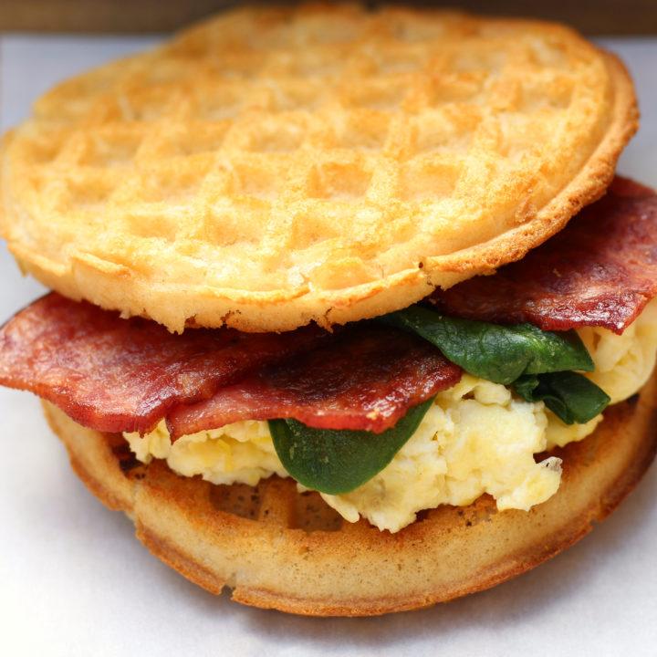 Breakfast Waffle Sandwiches