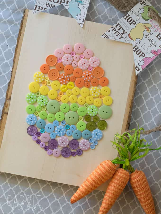 Easy Easter Craft: Button Easter Egg
