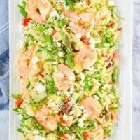 Shrimp Asparagus Orzo Pasta Salad