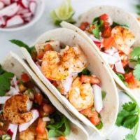 Sheet Pan Shrimp Tacos with Pico de Gallo