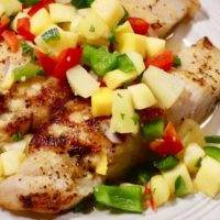 Grilled Grouper topped with Sweet and Spicy Mango Salsa Recipe