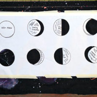 Galaxy Moon Phases Wall Hanging DIY