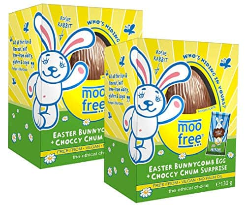Moo Free Dairy Free Organic Bunnycomb Easter Egg + Choccy Chum Surprise 130g (Pack of 2)