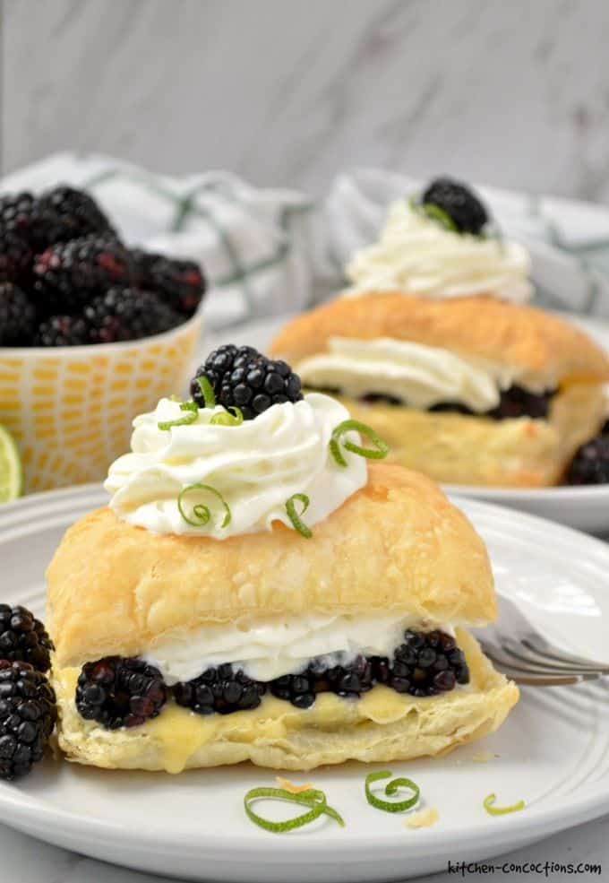 Blackberry Lime Napoleon Recipe - Kitchen Concoctions