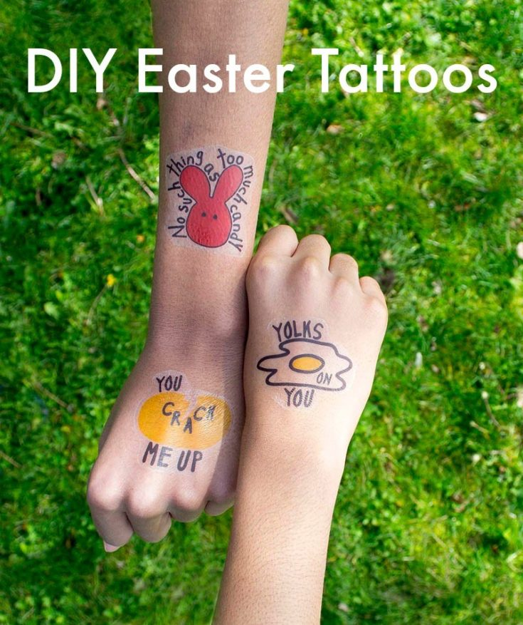 DIY Temporary Easter Tattoos