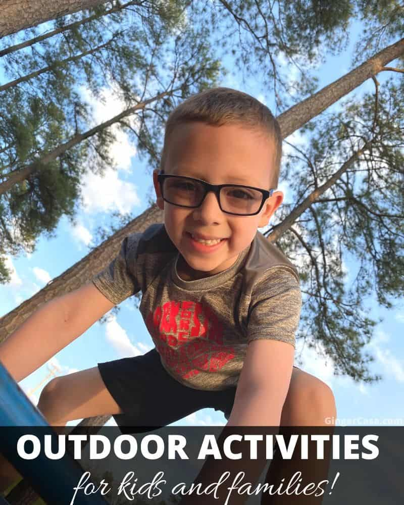 outdoor activities for kids and families