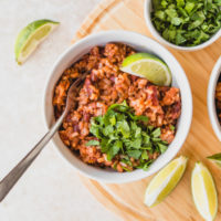 Instant Pot Rice & Beans (Only 5 Ingredients!)