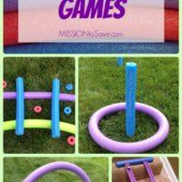 DIY Pool Noodle Games- No Water Needed!