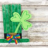 Popsicle Stick Leprechaun Hat Craft for Kids