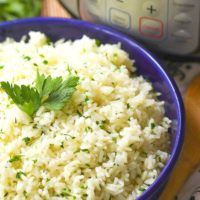 Instant Pot Garlic and Herb Rice