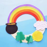 Rainbow Wreath Craft for Kids