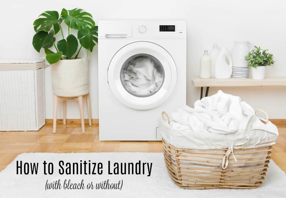 how to sanitize laundry with bleach or without