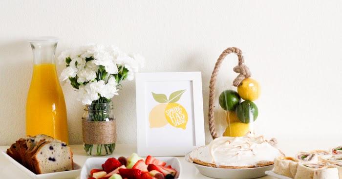 DIY Easter Brunch Centerpiece (with Spring Lemons Printable Download)