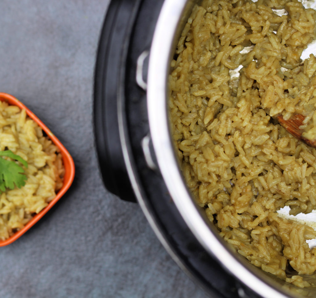 instant pot green enchilada rice