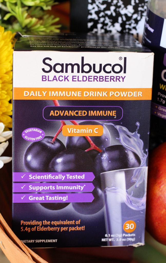 sambucol black elderberry daily immune drink powder