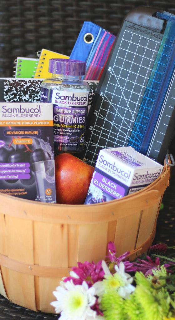 sambucol elderberry teacher gift basket