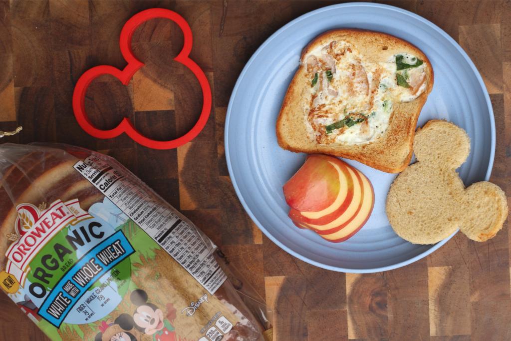 disney organic oroweat egg white omelette toast