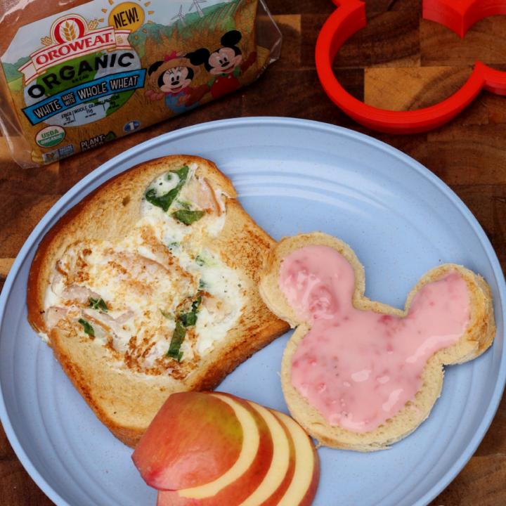Disney's Mickey Mouse Egg White Omelette Toast