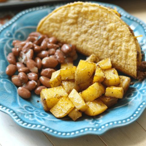 Taco Potatoes - Delicious Side Dish or Taco Base!