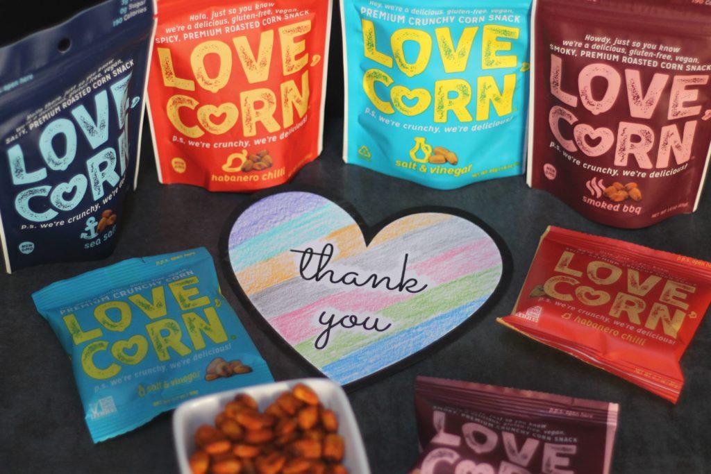 love, corn thank you