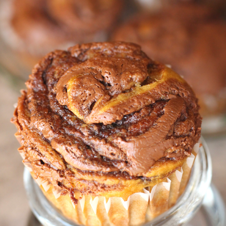 Nutella Banana Muffins with Chocolate Chips