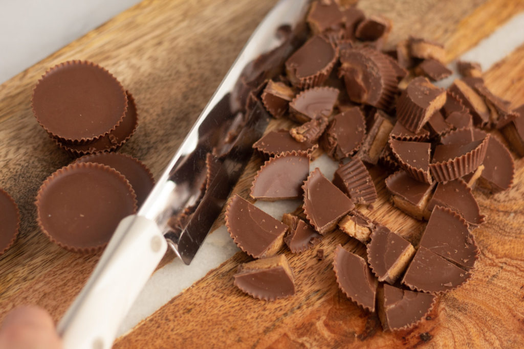 reese's peanut butter cups, chopped
