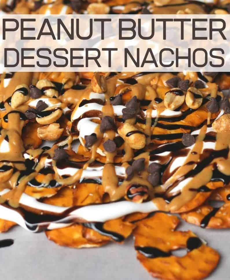 Peanut Butter Dessert Nachos Recipe