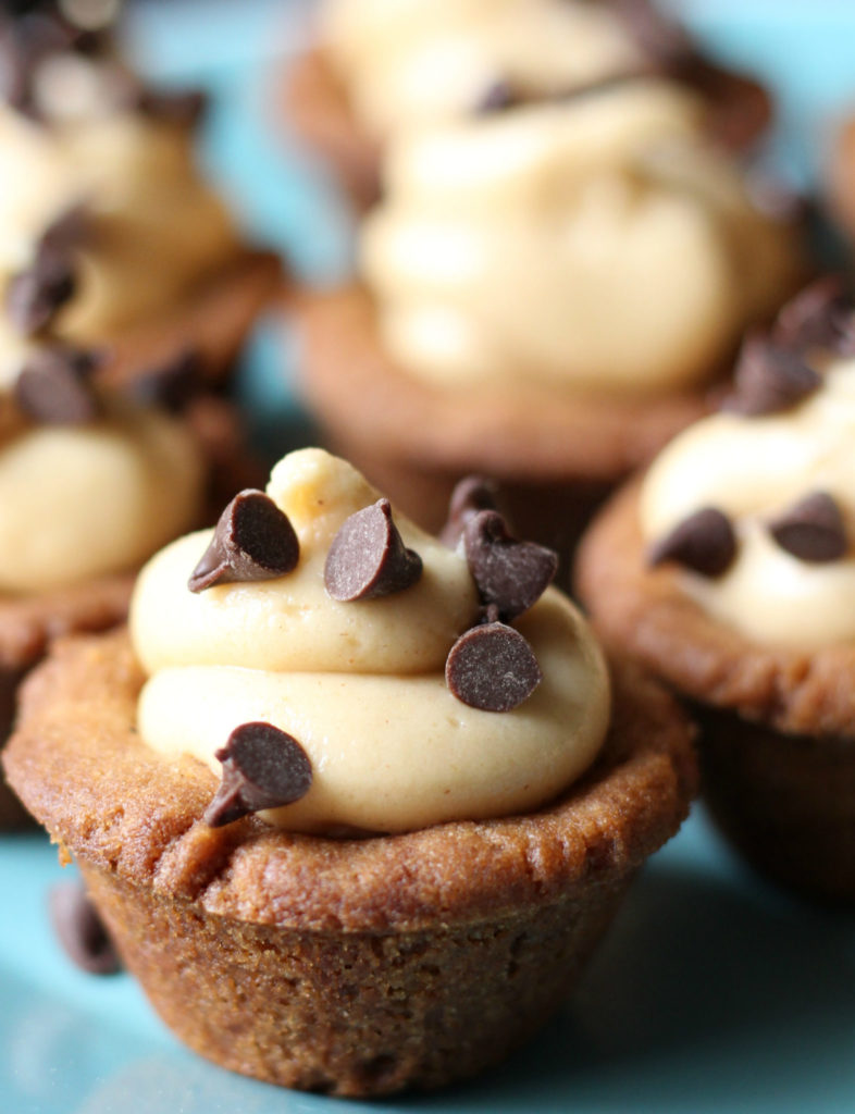 Peanut Butter Chocolate Chip Cheesecake Cookie Cups