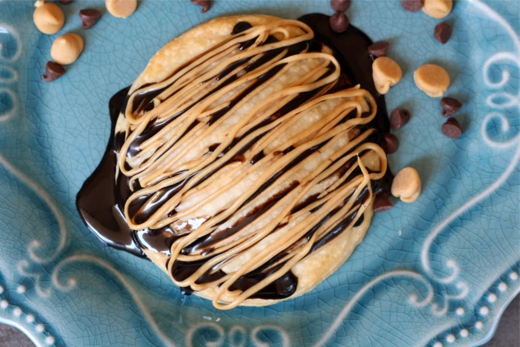 Air Fryer Peanut Butter Chocolate Pastries